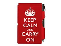 Flip Notes® KEEP CALM w/ BP, red