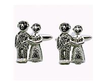 24R BRIDE & GROOM CUFFLINKS