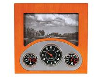 RETRO DASHBOARD CLOCK & FRAME CHERRYWOOD
