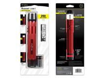 Radiant 3-in-1 LED Flashlight - Red