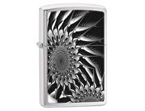 29061 METAL SUNFLOWER - BRUSHED CHROME