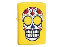 24894 SKULL DAY OF THE DEAD - LEMON
