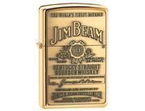 254BJB 929 JIM BEAM LABEL BRASS