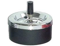 950 - 11cm SPINNING ASHTRAY BLACK