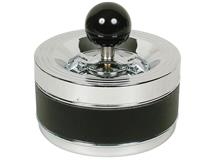 BLACK BAND SPINNING ASHTRAY 12CM