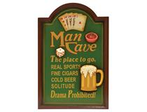 WALL PLAQUE MAN CAVE-THE PLACE TO GO