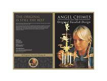 ANGEL CHIMES-BRASS PLATED WTH 4X CANDLES