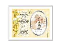 GLASS FRAME ON WEDDING DAY