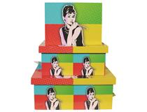 POP ART BOXES 3PCSET-AUDREY HEPBURN(1=3)