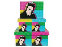 POP ART BOXES 3PC SET-ELVIS PRESLEY(1=3)