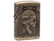29268 SKULL ARMOR-MULTICUT ANTIQUE BRASS