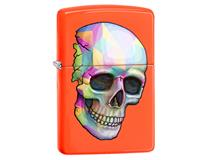 29402 COLOURED SKULL - NEON ORANGE