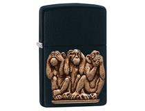 29409 3 WISE MONKEYS - BLACK MATTE