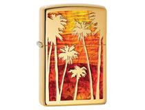 29420 GOLD PALM TREES - H/P BRASS