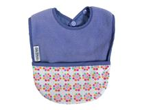 FLEECE POCKET BIB LILAC PANSY