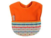 FLEECE POCKET BIB ORANGE SPRITE