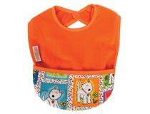 FLEECE POCKET BIB ORANGE/DOG