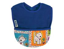 FLEECE POCKET BIB ROYAL/DOG