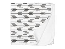 JERSEY SWADDLE BLANKET ARROWS