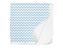 JERSEY SWADDLE BLANKET BLUE CHEVRON
