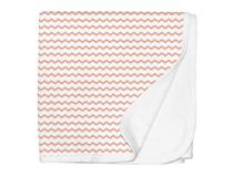 JERSEY SWADDLE BLANKET PINK CHEVRON