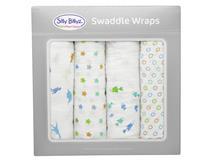 MUSLIN SWADDLE WRAP 4PK OCEAN & EARTH