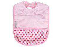 TOWEL POCKET BIB PPINK/DOTS