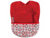 TOWEL POCKET BIB RED HEART