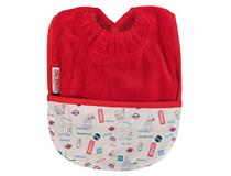 TOWEL POCKET BIB RED LONDON