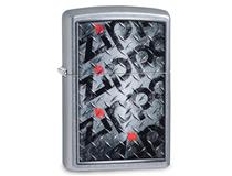 29838 Street Chrome Checkerplate Zippo
